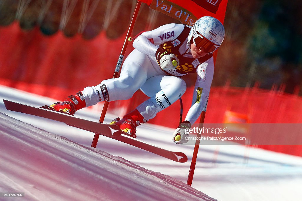 <a gi-track='captionPersonalityLinkClicked' href=/galleries/search?phrase=Alice+McKennis&family=editorial&specificpeople=6531582 ng-click='$event.stopPropagation()'>Alice McKennis</a> of the USA competes during the Audi FIS Alpine Ski World Cup Women's Downhill Training on December 16, 2015 in VAL D'ISERE, France.