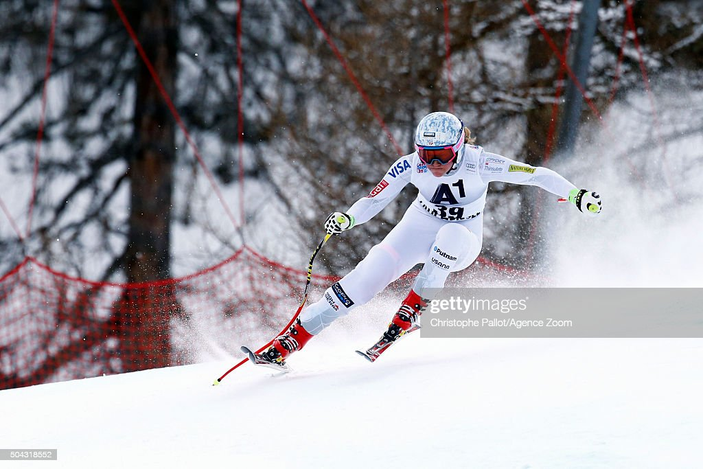 <a gi-track='captionPersonalityLinkClicked' href=/galleries/search?phrase=Alice+McKennis&family=editorial&specificpeople=6531582 ng-click='$event.stopPropagation()'>Alice McKennis</a> of the USA competes during the Audi FIS Alpine Ski World Cup Women's Super-G on January 10 2016 in Altenmarkt-Zauchensee, Austria.