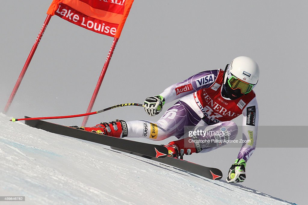 <a gi-track='captionPersonalityLinkClicked' href=/galleries/search?phrase=Alice+McKennis&family=editorial&specificpeople=6531582 ng-click='$event.stopPropagation()'>Alice McKennis</a> of the USA during the Audi FIS Alpine Ski World Cup Women's Downhill Training on December 02, 2014 in Lake Louise, Canada.