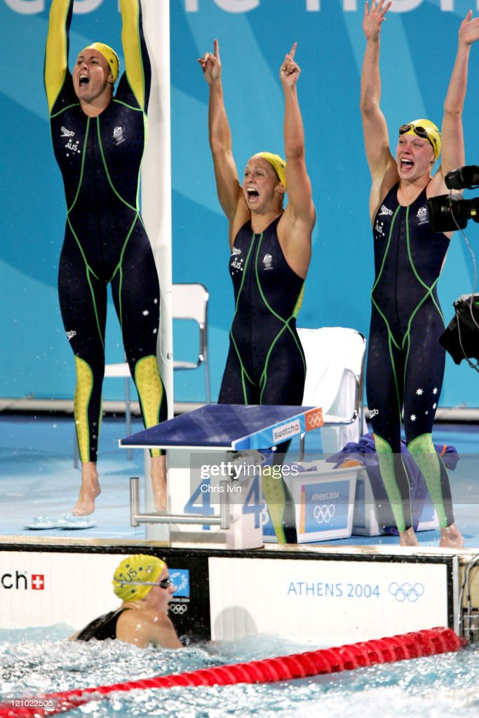 Athens 2004 Olympic Games - Day 1 - Swimming - Women's 4x100m Freestyle Relay -