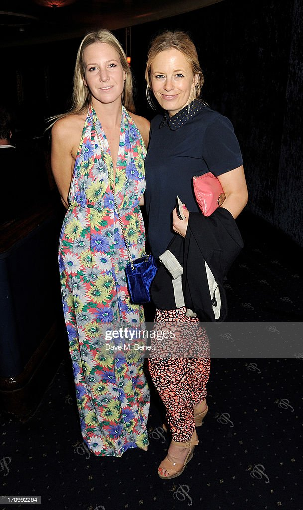Alice Naylor Leyland (L) and Astrid Harbord attend The Hoping Foundation's 'Rock On', a benefit evening for Palestinian refugee children, at Cafe de Paris on June 20, 2013 in London, England.