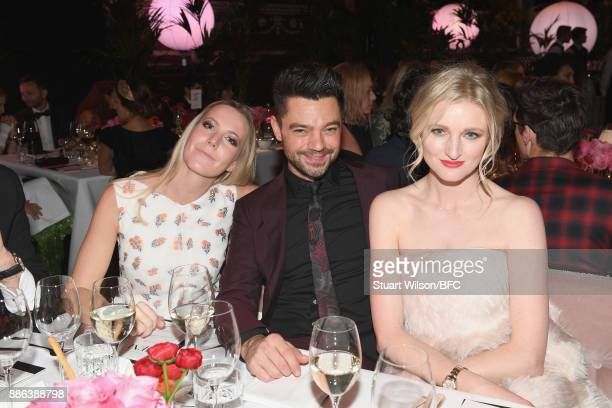 Alice Naylor Leyland Dominic Cooper and guest during The Fashion Awards 2017 in partnership with Swarovski at Royal Albert Hall on December 4 2017 in...