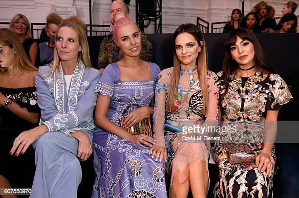 Alice NaylorLeyland Amber Le Bon Maria Hatzistefanis and Zara Martin pose as they attend the Temperley London SS17 show sponsored by Rodial at London...
