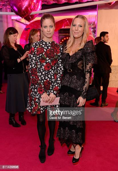 Alice NaylorLeyland and guest at The Naked Heart Foundation's Fabulous Fund Fair in London at Old Billingsgate Market on February 20 2016 in London...