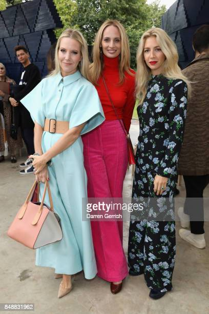 Alice NaylorLeyland Lauren Santo Domingo and Sabine Getty attend the Roksanda show during London Fashion Week September 2017 on September 18 2017 in...