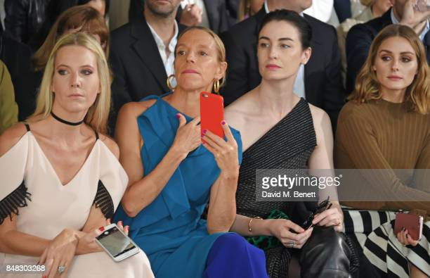 Alice NaylorLeyland Tiphaine de Lussy Erin O'Connor and Olivia Palermo attend the Roland Mouret SS18 catwalk show during London Fashion Week...