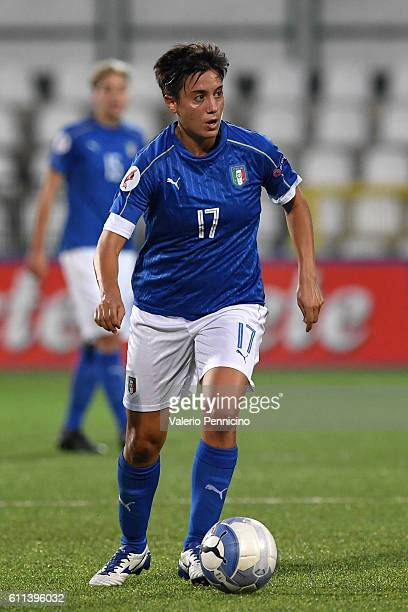 Alice Parisi of Italy in action during the UEFA Women's Euro 2017 Qualifier Group 6 match between Italy and Czech Republic at Stadio Silvio Piola on...