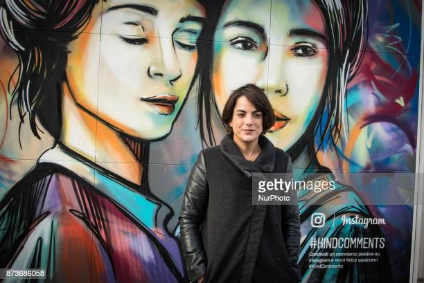 Alice Pasquini during On the occasion of the World Day of Kindness Instagram inaugurates #KindCommentsWall of Testaccio a mural created by local...