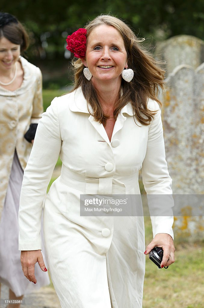 Alice Plunkett attends the wedding of Alicia Fox-Pitt and Sebastian Stoddart at The Church of the Holy Cross in Goodnestone on July 20, 2013 near Dover, England.