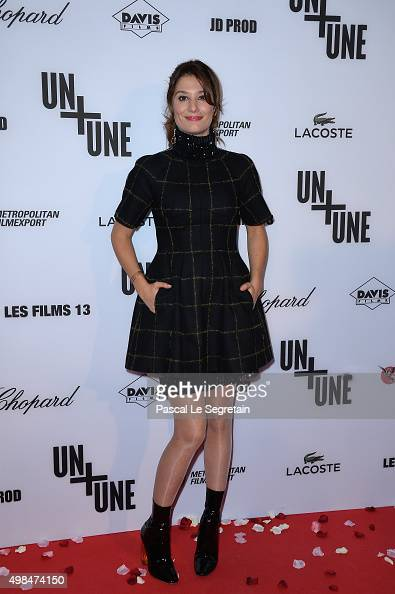 Alice Pol attends The 'Un Une' Paris Premiere At Cinema UGC Normandie on November 23 2015 in Paris France