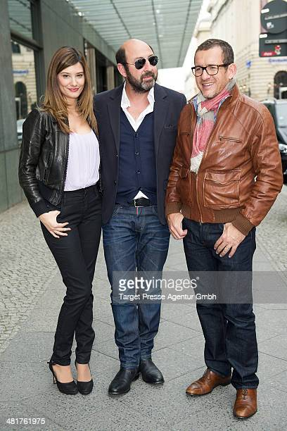 Alice Pol Kad Merad and Dany Boon attend the 'SuperHypochonder' photocall at Regent Hotel on March 31 2014 in Berlin Germany