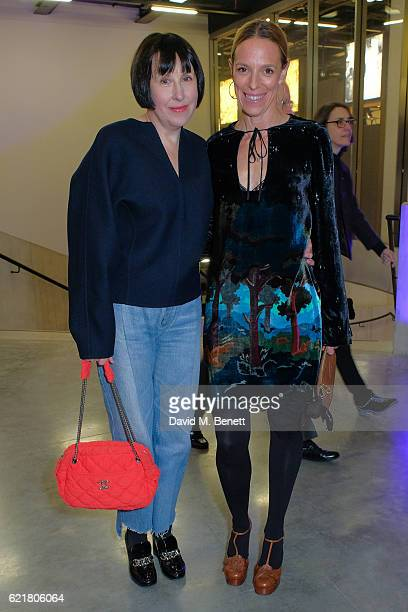 Alice Rawsthorn and Tiphaine de Lussy arrive at the opening reception for new exhibition 'The Radical Eye Modernist Photography From The Sir Elton...
