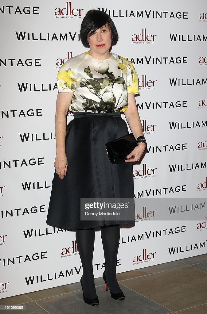 Alice Rawsthorn attends the WilliamVintage Dinner Sponsored By Adler at St Pancras Renaissance Hotel on February 8, 2013 in London, England.