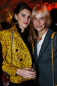 Alice Ricard and Designer Vanessa Bruno attend 'Le Bal Jaune 2015' Dinner Party At Hotel Salomon de Rothschild during FIAC on October 23 2015 in...