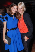 Alice Ricard and fashion designer Vanessa Bruno attend 'Bal Jaune 2012' organized by the Ricard Corporate Foundation for Contemporary Arts at Ile...
