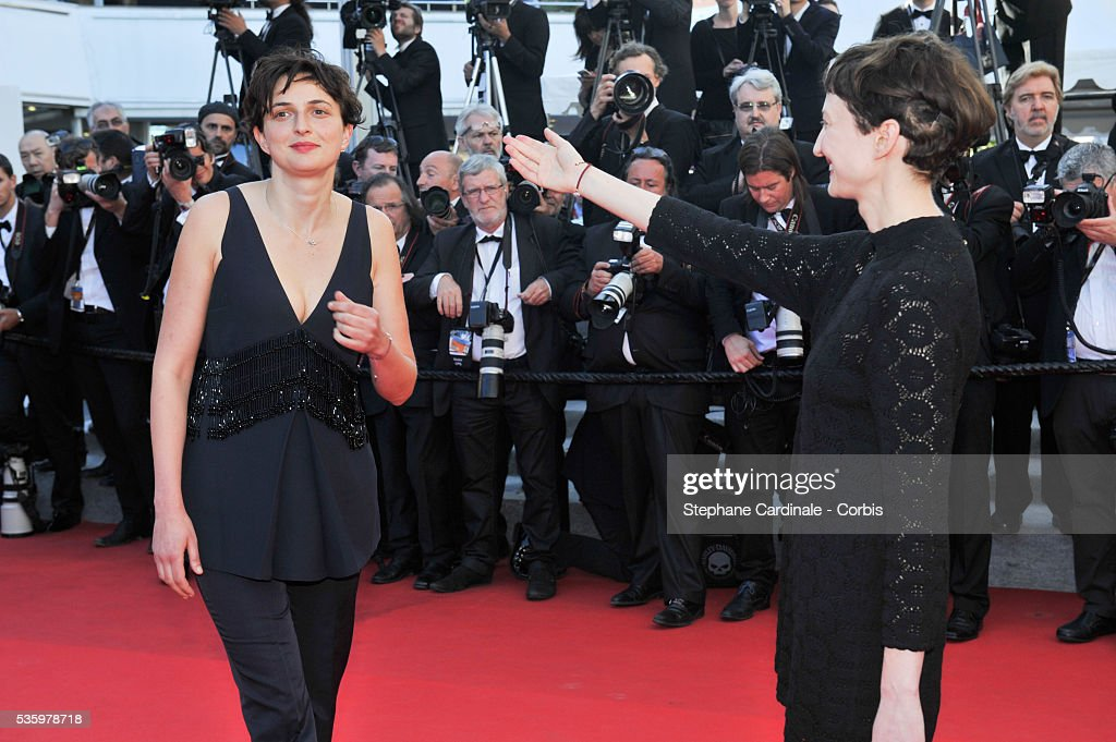 Alice Rohrwacher and Alba Alice Rohrwacher at the Closing ceremony and 'A Fistful of Dollars' screening during 67th Cannes Film Festival
