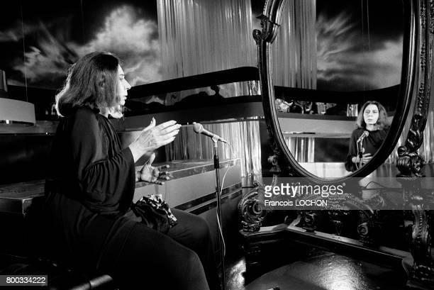 Alice Sapritch actrice à la télévision en novembre 1975 à Paris France