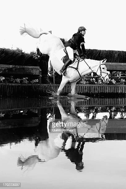 Alice ScampsGoodman of Australia riding As Tully competes in the Cross Country during the Melbourne International Three Day Event at Werribee Park...