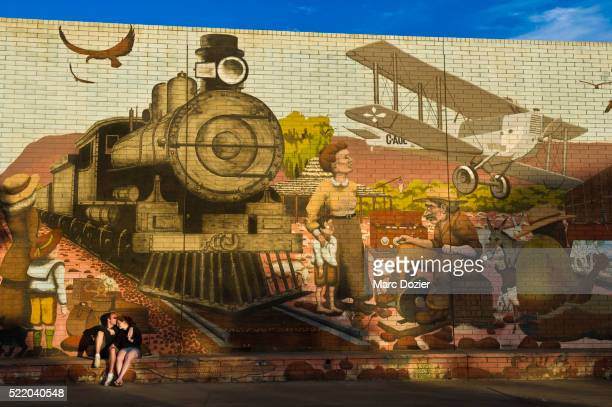 Alice Springs' wall painting