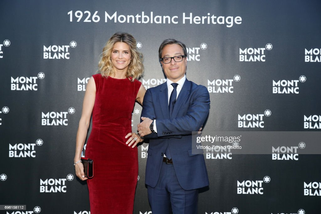 Alice Taglioni and CEO Montblanc International Nicolas Baretzki attend '1926 Montblanc Heritage Launch event' on June 14, 2017 in Florence, Italy.