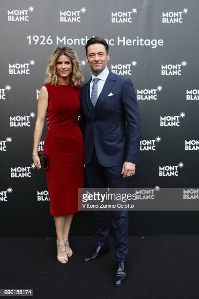 Alice Taglioni and Hugh Jackman attend the '1926 Montblanc Heritage Launch event' on June 14 2017 in Florence Italy