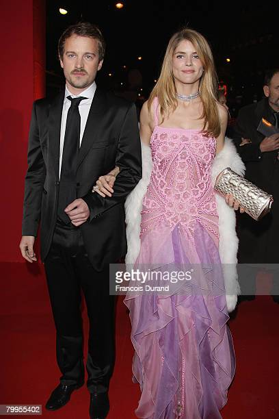 Alice Taglioni and Jocelyn Quivrin arrive at Cesar Film Awards 2008 at Theatre du Chatelet on February 22 2008 in Paris France