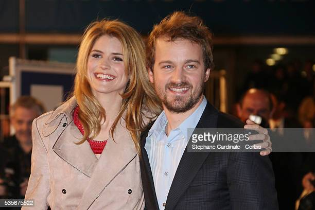 Alice Taglioni and Jocelyn Quivrin arrive at the 2008 NRJ Music Awards in Cannes