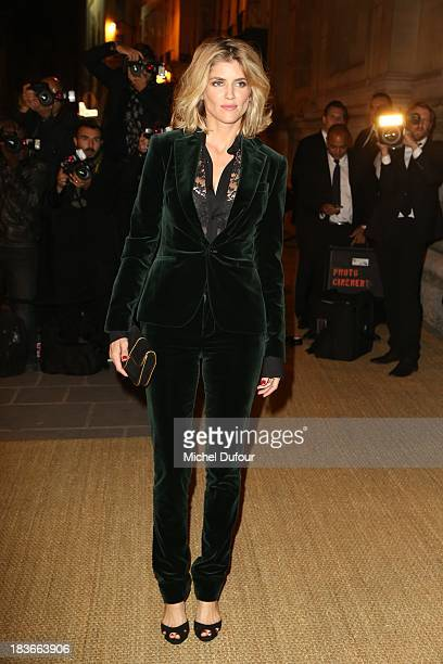 Alice Taglioni arrives at a Ralph Lauren Collection Show and private dinner at Les BeauxArts de Paris on October 9 2013 in Paris France On this...