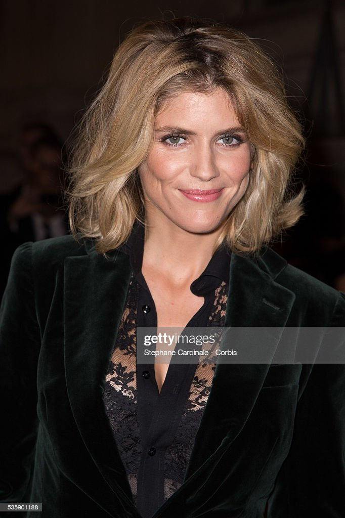 Alice Taglioni arrives at a Ralph Lauren Collection Show and private dinner at Les Beaux-Arts de Paris on October 8, 2013 in Paris, France. On this occasion Ralph Lauren celebrates the restoration project and patron sponsorship of 'L'Ecole des Beaux-Arts'.