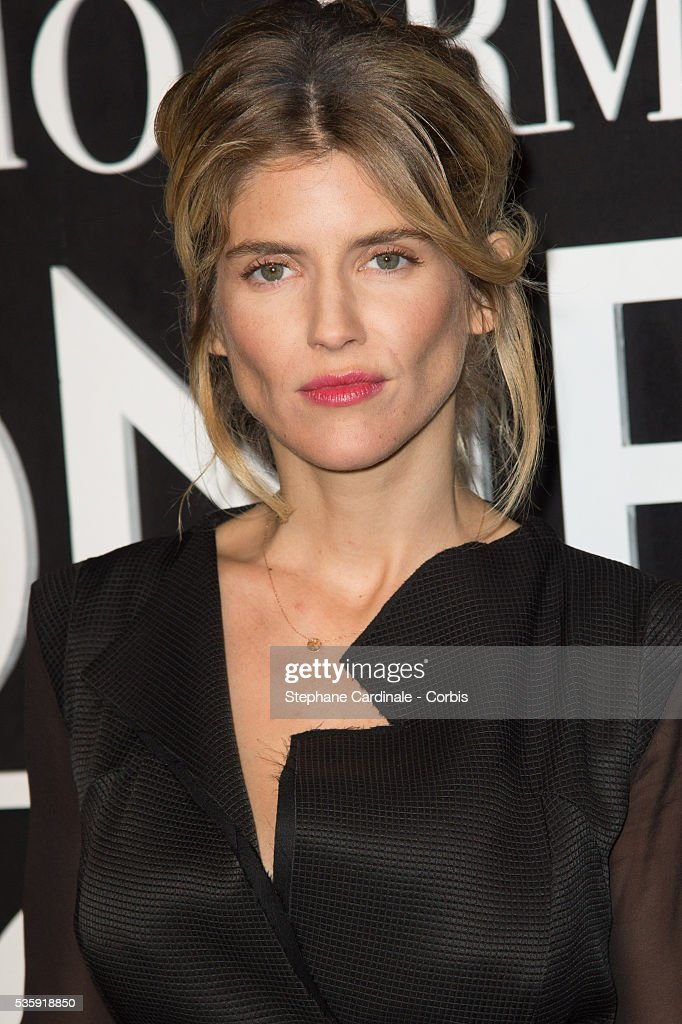 Alice Taglioni attends the Giorgio Armani Prive show as part of Paris Fashion Week Haute Couture Spring/Summer 2014, at Palais de tokyo in Paris.