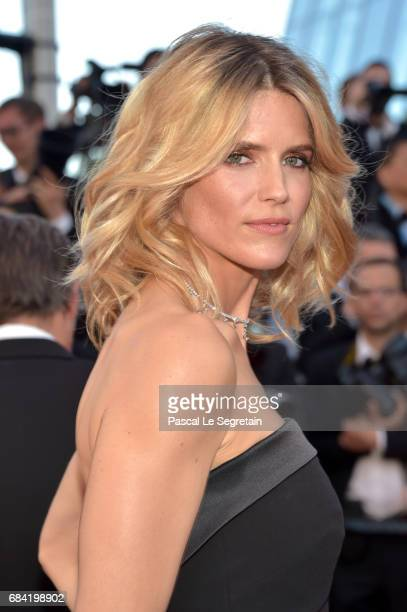 Alice Taglioni attends the 'Ismael's Ghosts ' screening and Opening Gala during the 70th annual Cannes Film Festival at Palais des Festivals on May...