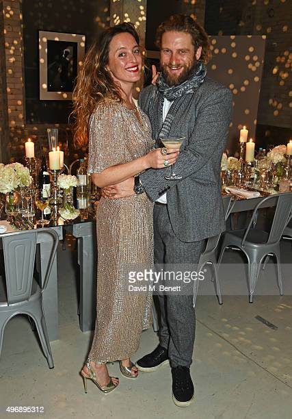Alice Temperley and Greg Williams attend an intimate dinner party hosted by Alice Temperley to celebrate 15 years of Temperley at GWP Studio on...