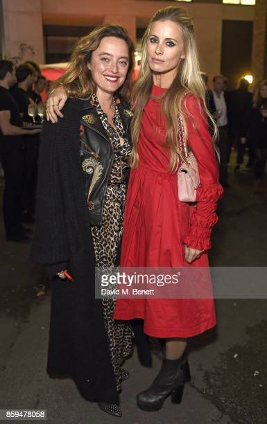 Alice Temperley and Laura Bailey attend the Conde Nast Traveller 20th anniversary party at Vogue House on October 9 2017 in London England