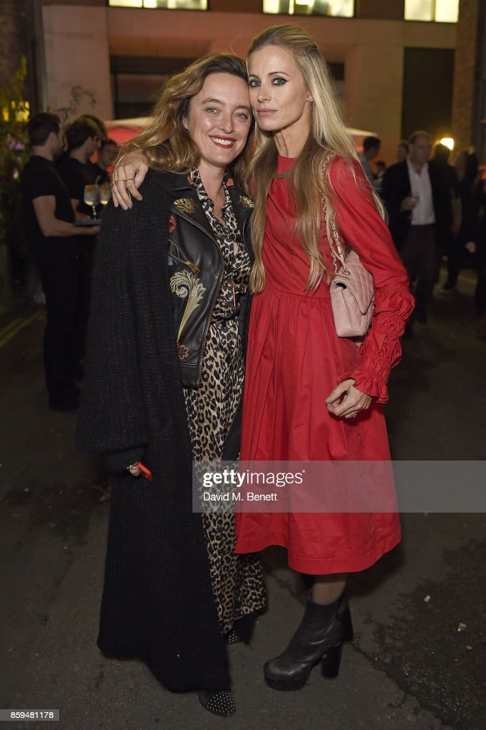 Alice Temperley (L) and Laura Bailey attend the Conde Nast Traveller 20th anniversary party at Vogue House on October 9, 2017 in London, England.