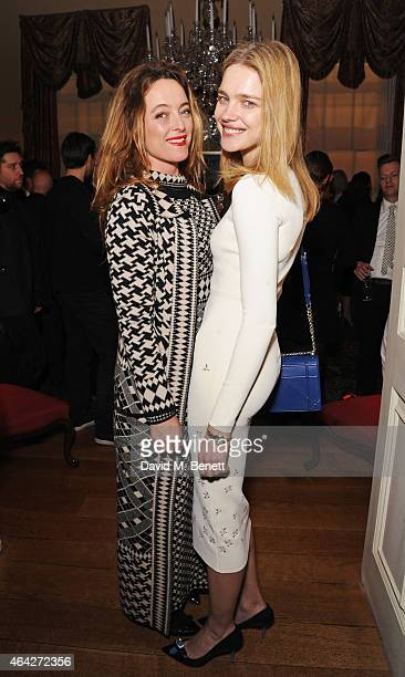 Alice Temperley and Natalia Vodianova attend the Creative London party hosted by the British Fashion Council and BPI at Spencer House on February 23...