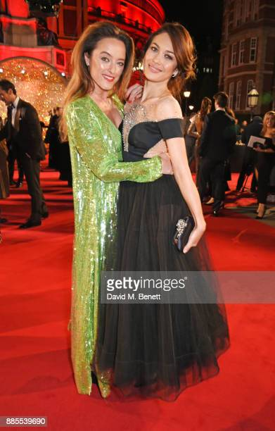Alice Temperley and Olga Kurylenko attend The Fashion Awards 2017 in partnership with Swarovski at Royal Albert Hall on December 4 2017 in London...