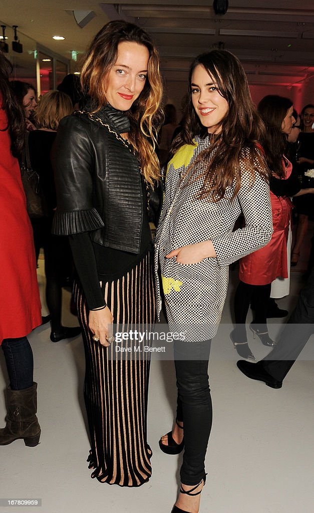 Alice Temperley (L) and <a gi-track='captionPersonalityLinkClicked' href=/galleries/search?phrase=Tallulah+Harlech&family=editorial&specificpeople=5521162 ng-click='$event.stopPropagation()'>Tallulah Harlech</a> attend the Conde Nast College of Fashion & Design opening party at 16/17 Greek Street on April 30, 2013 in London, England.
