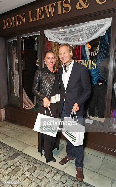 Alice Temperley and Ulrik Garde Due attend the preview party of John Lewis's 'Stories of a Shopkeeper' exhibition at the John Lewis Oxford Street...