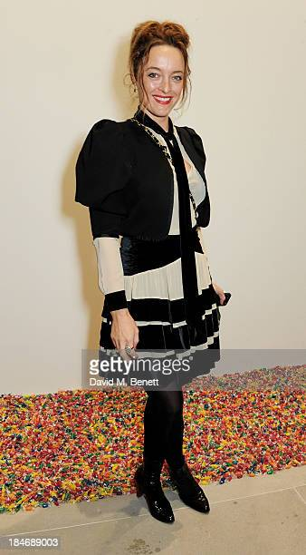 Alice Temperley attends a private view of Damien Hirst And Felix GonzalezTorres's exhibition 'Candy' at Blain Southern on October 15 2013 in London...