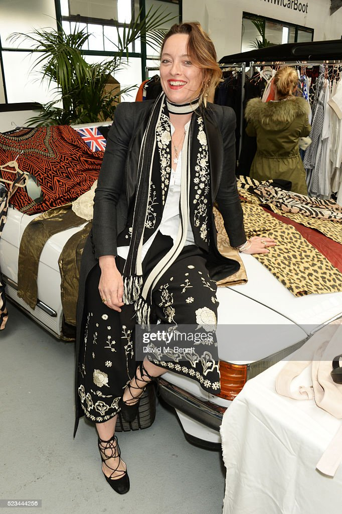 <a gi-track='captionPersonalityLinkClicked' href=/galleries/search?phrase=Alice+Temperley&family=editorial&specificpeople=213399 ng-click='$event.stopPropagation()'>Alice Temperley</a> attends the #SheInspiresMe Car Boot Sale presented by The Store and Brewer Street Car Park in aid of Women for Women International at Brewer Street Car Park on April 23, 2016 in London, England.