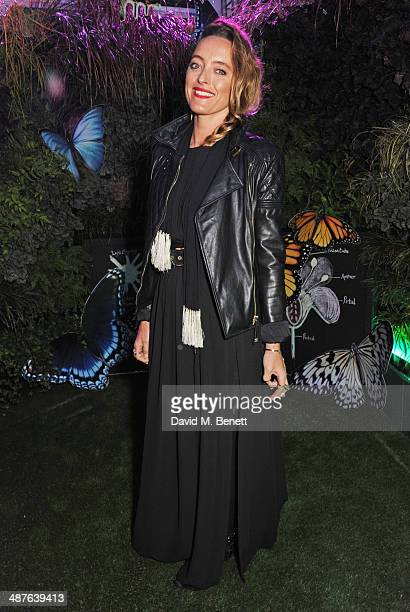 Alice Temperley enjoys some of the best views of London at the preview party of the new roof garden at John Lewis Oxford Street on May 1 2014 in...