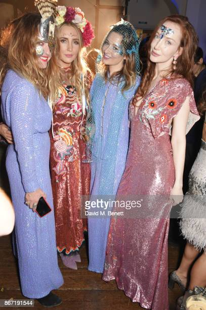 Alice Temperley Sophie Taylor Kelly Eastwood and Olivia Grant attend Unicef's Halloween at Aynhoe Park on October 27 2017 in Banbury England Unicef's...