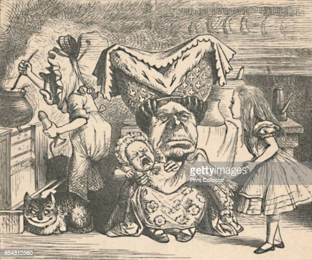 Alice the Duchess and the Baby 1889 Lewis Carrolls Alice in Wonderland as illustrated by John Tenniel From Alices Adventures in Wonderland by Lewis...