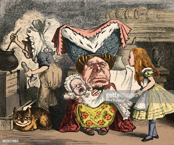 Alice the Duchess and the Baby' 1889 Lewis Carroll's 'Alice in Wonderland' as illustrated by John Tenniel From Alice's Adventures in Wonderland by...