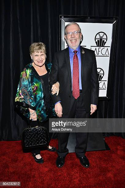Alice Tlusty Maltin and Leonard Maltin attend the 40th Annual Los Angeles Film Critics Association Awards at InterContinental Hotel on January 9 2016...