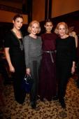 Alice und Ellen Kessler with Alexandra Polzin and Fiona Erdmann attend the Sava Nald show during the MercedesBenz Fashion Week Autumn/Winter 2014/15...