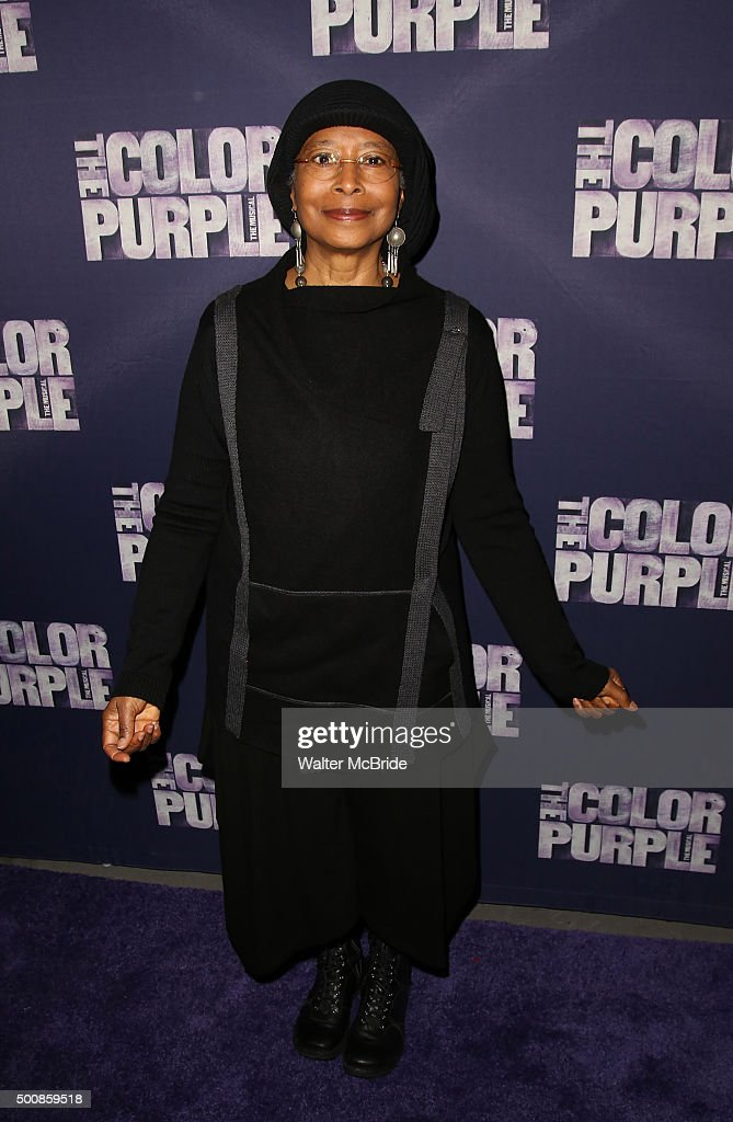 Alice Walker attends the Broadway Opening Night Performance of 'The Color Purple' at the Bernard B. Jacobs Theatre on December 10, 2015 in New York City.