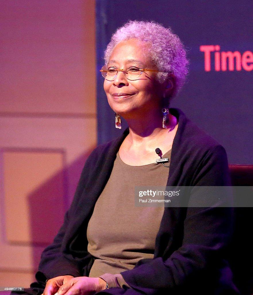 Alice Walker attends 'The Color Purple' TimesTalks: Jennifer Hudson, Cynthia Erivo, Alice Walker, John Doyle at The New School on October 29, 2015 in New York City.