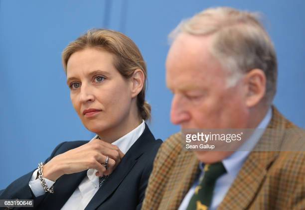 Alice Weidel and Alexander Gauland the lead candidate duo in German federal elections for the rightwing populist Alternative for Germany political...