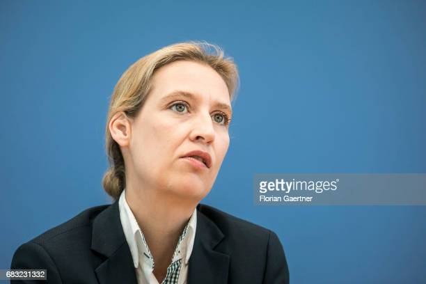 Alice Weidel campaign leader of Germany's rightwing populist Alternative for Germany party for the next German general election is captured during a...